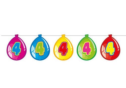 Vlaglijn 4 jaar (balloons)