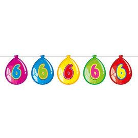 Vlaglijn 6 jaar (balloons)