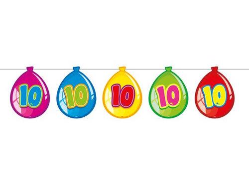 Vlaglijn 10 jaar (balloons)