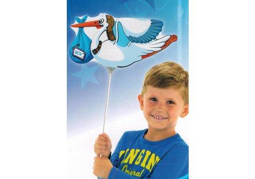 Folieballon ooievaar (jongen)