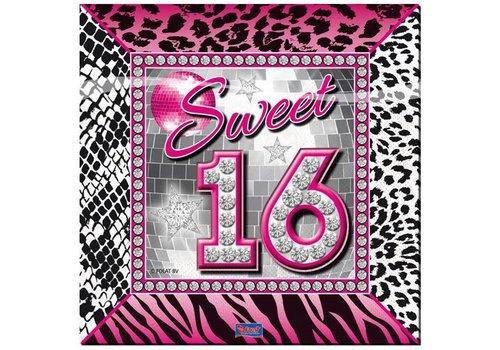 Servetten Sweet Sixteen (20st)