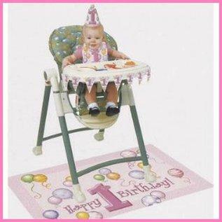 versierset kinderstoel 1e verjaardag