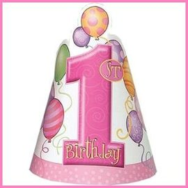 feesthoedjes Pink Balloons (8st)