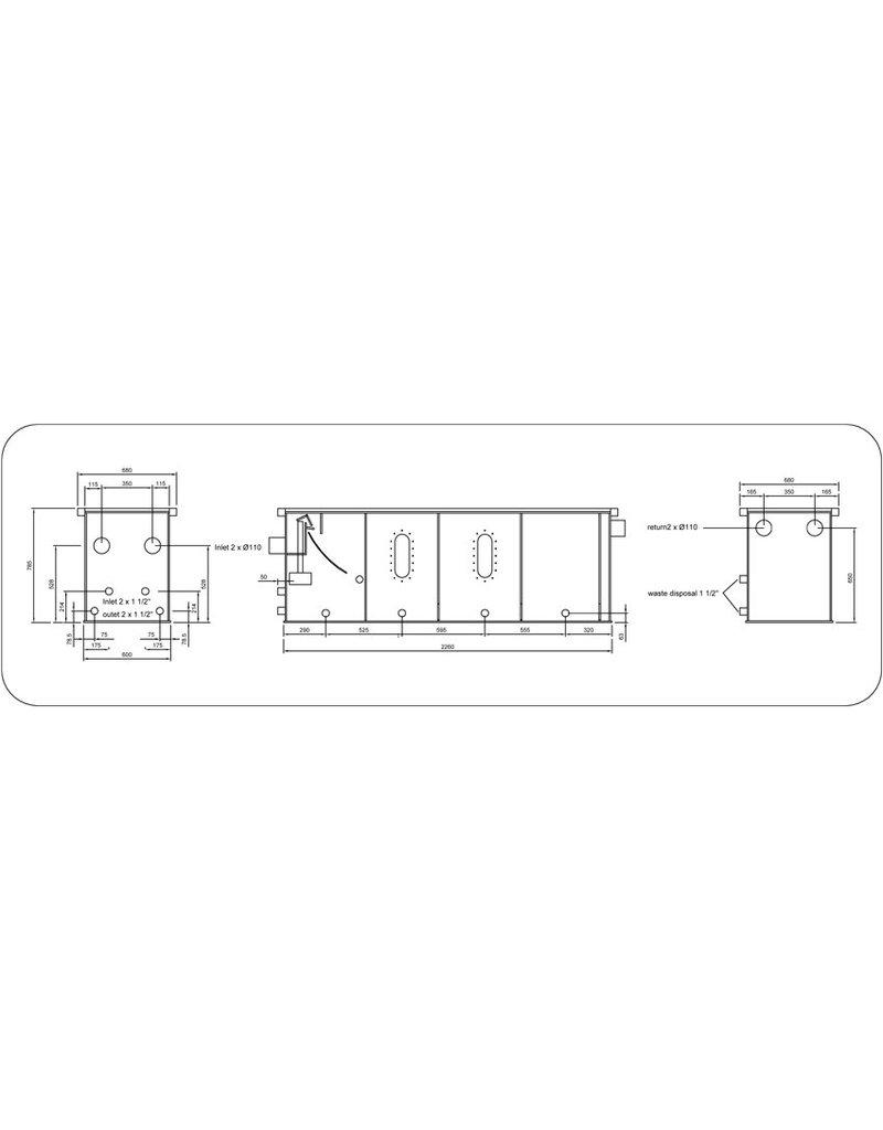 Filtreco 4 Kammer Umzug Bed Gravity Sieve