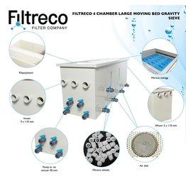 Filtreco 4 Kammer Gravity Moving Bed Large Sieve