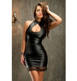 Soleil Black Leather Dress