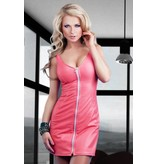 Soleil Pink Leather Dress