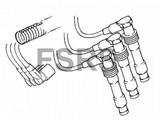 Bougiekabelset Opel Vectra-B X25XE cilinder 2-4-6