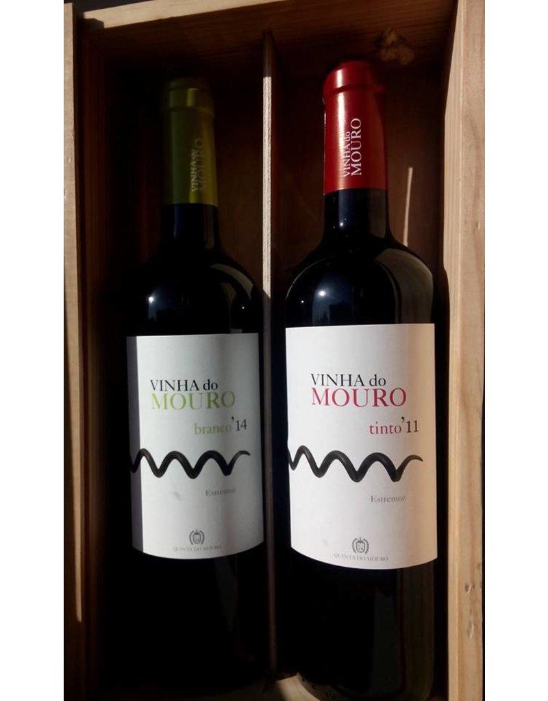 Wooden box Vinha do Mouro white/red