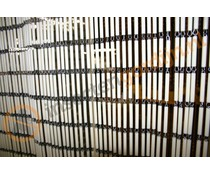 Vliegengordijn beige pvc staafjes 100 x 230 cm
