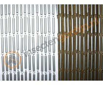 Vliegengordijn grijze pvc staafjes 100 x 230 cm
