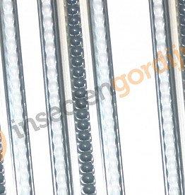 Lesli living Lesli living vliegengordijn grijs/wit stippen pvc 100 x 230 cm