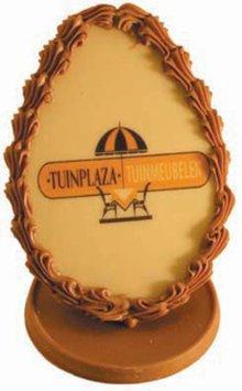 Goedkope chocolade Paaseieren met uw eigen logo of boodschap kopen?