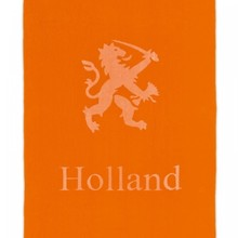 Super Big orange beach towels with image and text Dutch lion Holland (size 100 x 200 cm)