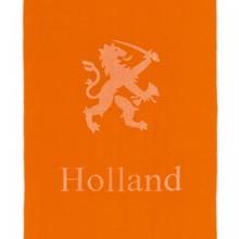 Super Big оранжеви плажни кърпи с изображение и текст Холандски лъв Holland (размер 100 х 200 cm)