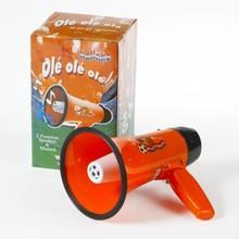 Orange Megaphone with music