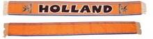 Oranje voetbal sjaals met opdruk Holland