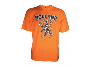 World Cup 2014 buy cheap orange T-shirts that read Holland? With us you can buy cheap Orange World Cup 2014 T-shirts with logos and text HOLLAND Holland lion and order directly online. Nice and cheap orange T-shirts into a matching orange mood