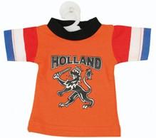 Goedkope oranje mini T-shirts voor een autoraam