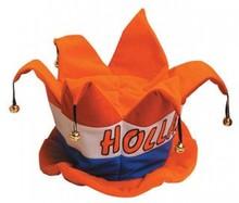 Oranje Holland Belletjes hoed (volwassen maat)