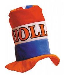 Orange Holland High Hat i de nationale farver orange, rød, hvid og blå
