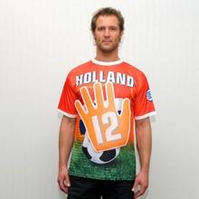 Orange Holland Soccer Wave T-shirt (størrelse XL)