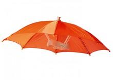 Billige appelsin hoved paraplyer