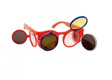 Orange Holland Sunglasses (with two flaps up and to the side flaps 2)