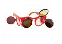 Oranje Holland Zonnebrillen (voorzien van 2 kleppen naar boven en 2 kleppen naar opzij)