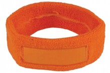 Cheap orange headbands (stretchable, towel head band)