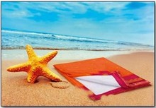 "Big Beach towels ""pareo"" in orange (size 100 x 150 cm)"
