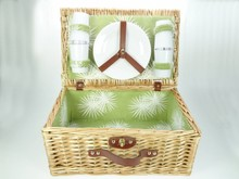 Lifestyle collectie │ Cheap Picnic Baskets 'Evergreen' for 4 people (with contents)