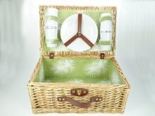 Lifestyle collectie │ Goedkope Picknickmanden 'Evergreen' geschikt voor 4 personen (met inhoud)