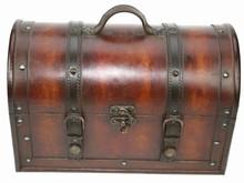 Houten koloniale dokterskoffer 'Karl' (afmeting buitenmaats 355 x 190 x 230 mm)