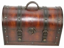 Wooden colonial doctor suitcase 'Karl' (oversized dimensions 355 x 190 x 230 mm)
