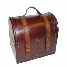 """Koloniale træ vin kasse »Denver"""" (størrelse 265 x 200 x 265 mm)"""