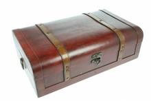 """Bruine houten Koloniale Wijnkoffer """"Indië groot"""" (afmeting buitenmaats 420 x 270 x 125 mm)"""