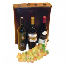 """3 бутилки колониални кутии дървена винопроизводители """"Ангелина"""" (размер 345 х 290 х 95 mm)"""