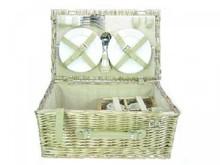 Lifestyle collectie │ Picknickmanden 'Brussel' (picknickmand met inhoud voor 4 personen)