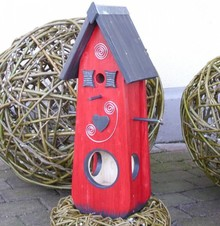 Greenwood Bird Feeder House Hartendief