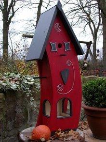 Greenwood Bird Feeder House Red House Snack