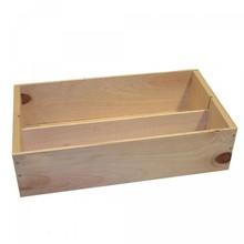 Евтини 2-бен кутии за вино с отделен капак (бяло дърво)