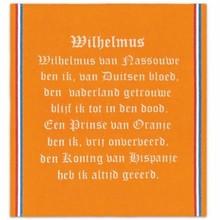 Oranje Theedoeken met tekst Wilhelmus (afmeting 60 x 65 cm)