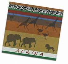 Theedoeken met thema Afrika (afmeting theedoek: 60 x 65 cm)