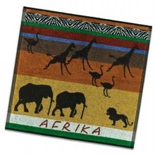 DDDDD Keukendoeken met thema Afrika (afmeting keukendoek 50 x 55 cm)