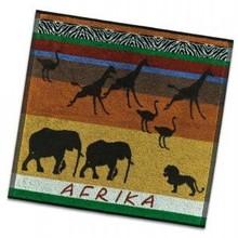 DDDDD viskestykker med temaet Afrika (størrelse køkken lærred 50 x 55 cm)