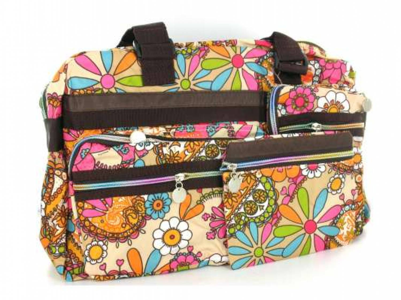 Grote Tas Geblokt : Grote tas met kleurijke bloemen print erg modieus