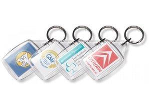 Cheap rectangular transparent keychains (unprinted)