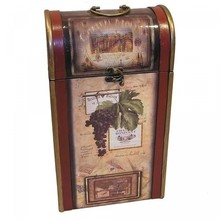 "Stylish painted wine suitcase ""Dominique"" for 2 wine bottles"