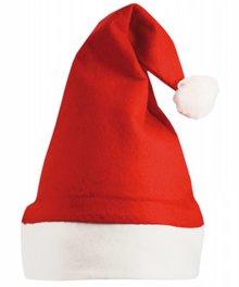 Billige rød Santa hatte med en hvid kant (voksen størrelse)